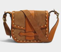 Gemma Crossbody Tasche aus karamelfarbenemfarbenem Kalbsleder