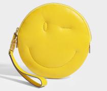 Clutch Chubby Wink aus Nappaleder in Gelb