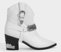 Cowboy Boots in weißem Leder