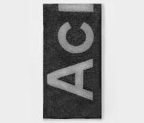 Schal Toronty Logo aus Schwarzer Wolle