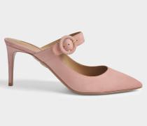 Blossom 75 Mule Schuhe aus Jaipur rosanem Wildleder