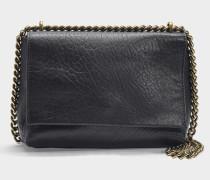 Chic Tasche aus schwarzem Lammleder