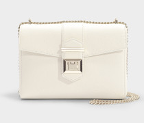 Marianne Shoulder Bag in Linen Grainy Calf Leather