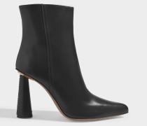 Toula Stiefel aus schwarzem Leder