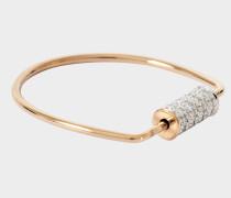 Mini Straw Diamond 18-karat rose gold ring