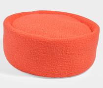 Hut Pill Box aus Wolle Orange