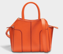 Sella Mini Tasche aus Light Brick Kalbsleder