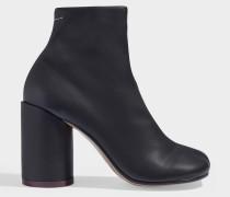 High Heel Ankle-Boots in schwarzem Kalbsleder