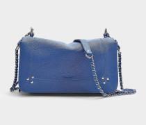 Handtasche mit Schulterriemen Bobi aus Ziegenleder Azurblau