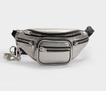 Mini Gürteltasche Attica Soft aus silver Lammleder