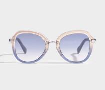 Dree Sonnenbrille aus blauem Acetat