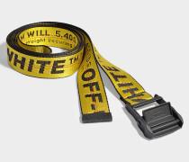 Gürtel Classic Industrial aus gelbem und schwarzem Synthetikmaterial