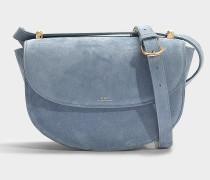 Handtasche Genève aus blaugrauem Kalbsleder