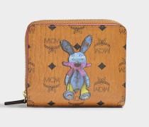 Mini Rabbit Zip Around Geldbörse in Cognac sandfarben