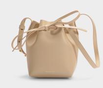 Bucket Bag Mini Mini Bucket aus beigem Kalbsleder