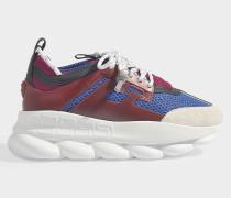 Chain Reaction Sneaker aus blauem und rotem Stoff