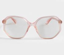 Acetat Sonnenbrille aus Fuchsia farbenem Acetat