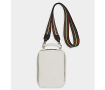 Handtasche Pavé aus kreidefarbigem Kalbsleder