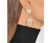 Ohrringe mit zwei Steinen Dots