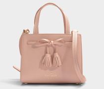 Kleine Handtasche Sam Thompson Street aus rosa Kalbsleder