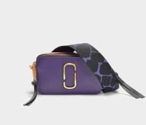 Handtasche Snapshot aus Kalbsleder mit Polyurethan Beschichtung Violett Bunt