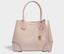 Mercer Gallery Medium Center Zip Tote Bag in Soft Pink Grained Calfskin