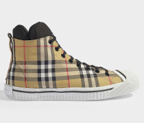Sneaker Kilbourne aus altgelber Baumwolle