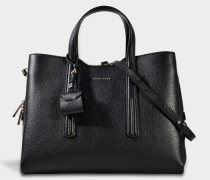 Taylor Tote Bag aus schwarzem Kalbsleder
