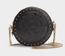 Handtasche Disco aus schwarzem Glattleder