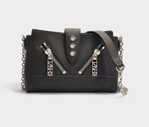 Handtasche Mini Kalifornia aus schwarzem Kalbsleder