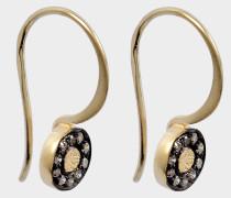 Caleb Ohrringe aus 24K goldfarbenem-plattiertem Silber und Diamanten