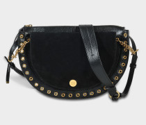See by Chloé Kriss Medium Crossbody Tasche aus schwarzem Rindsleder und Wildleder