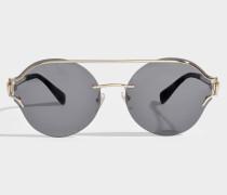 V-Powerful Sonnenbrille aus schwarzem Metall