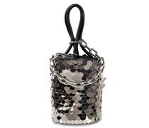 Roxy Mini Bucket Tasche aus schwarzem Kalbsleder