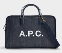 Handtasche Gertrude aus marineblauer Baumwolle