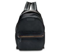 Öko Nylon Falabella Go Backpack aus schwarzem Öko Leder