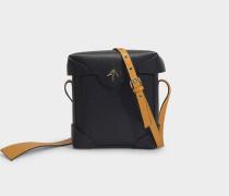Mini Pristine Tasche aus Schwarzem, pflanzlich gegerbten Kalbsleder