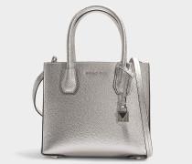 Handtasche Mercer Medium aus silbernem Kalbsleder