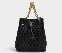 Bucket Bag Stacy Cometa S aus schwarzem Leder