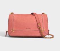 Handtasche mit Schulterriemen Bobi aus Ziegenleder Violett