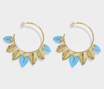 Thalitha Hoop Ohrringe aus türkisem und 18K vergoldetem Messing
