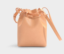 Bucket Bag Mini Bucket aus braunem Kalbsleder