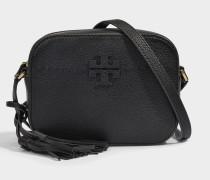 Mcgraw Kamera Tasche aus schwarzem Kalbsleder