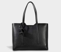 Taylor Shopper Tasche aus schwarzem Kalbsleder