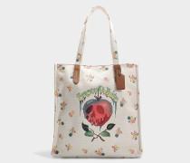 Shopper Poison Apple aus kreidefarbiger Baumwolle