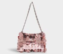 Sparkle 1969 Iconic Oversize Pailletten-Tasche aus hellrosa Messing