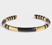 Armband Positano aus vergoldetem Messing und Résine Schwarze