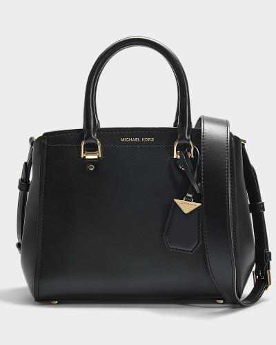 Handtasche Benning Medium aus schwarzem Kalbsleder