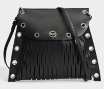 Baltard Crossbody Tasche aus schwarzem Kalbsleder