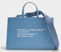 Handtasche Medium Cocco Box aus blauem Kalbsleder